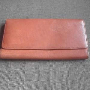 Beechamel Brown genuine leather trifold wallet